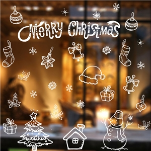 Contemporary Plain Wall Sticker Removable Christmas Wall Sticker Waterproof PVC Decorative Window Sticker