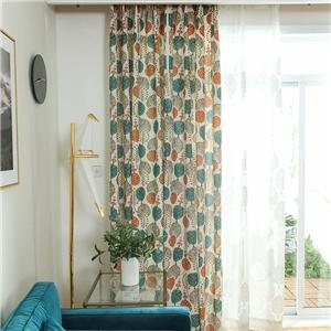 Modern Simple Curtain Polyester Cotton Cartoon Tree Printing Curtain Kid's Room Fabric