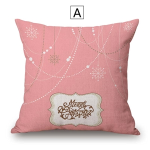 Modern Cute Pillow Cover Christmas Theme Cotton Linen Pillow Case Merry Christmas