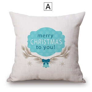 Creative Simple Pillow Cover Christmas Theme Cotton Linen Piloow Case Merry Christmas to You