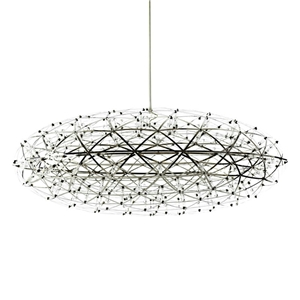Contemporary Simple LED Pendant Light Hollow Stainless Steel Ellipse Shade LED Pendant Light Bedroom Living Room Light