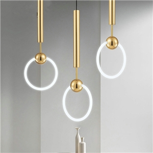 Nordic Creative Lighting Single Glass Knocker Pendant Light Bedroom Living Room Light