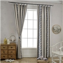 Classical Simple Curtain Unique Geometry Jacquard Curtain Living Room Bedroom Blackout Fabric (One Panel)