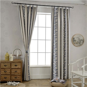 Classical Simple Curtain Unique Geometry Jacquard Curtain Living Room Bedroom Blackout Fabric