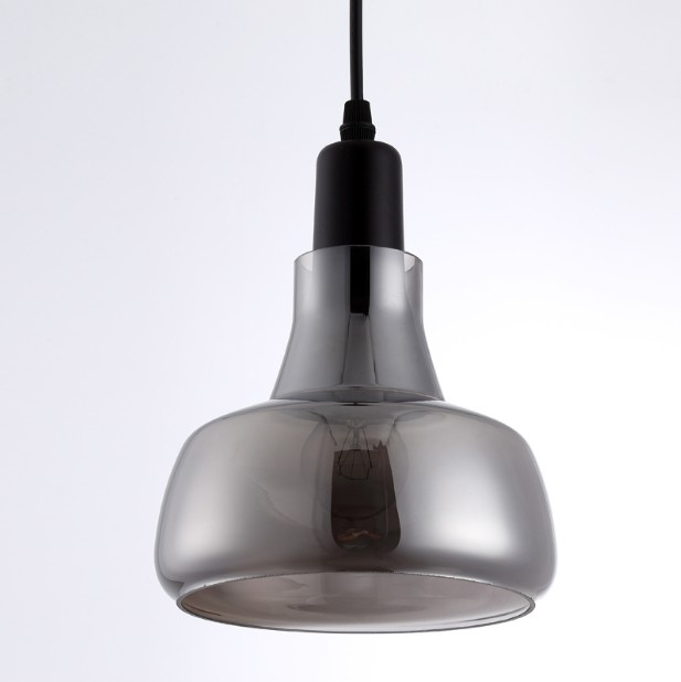 Glass Pendant Light For Kitchen Island Silver Grey Vintage