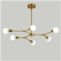 Nordic Simple Pendant Light Electroplating Y Shape Branch Pendant Light Black/Goldern Pendant Light