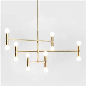 Nordic Simple Pendant Light Electroplating Iron Pendant Light Geometry Lines Shape Light