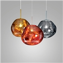 Coloured Pendant Light Electroplating Irregular Lava Pendant Light Acrylic Bedroom Study Light