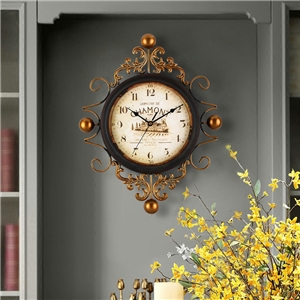 Creative Mute Wall Clock Round Dial Diamond Shape Wall Clock A/B Options