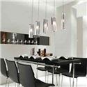 Dining Room Lighting Stainless Steel 5-Light Mini Bar Pendant Light with K9 Crystal ball Drop