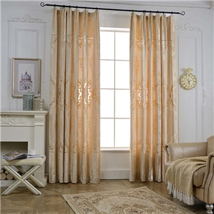 Imitative Chenille Curtain Modern Simple European Flower Jacrquard Curtain Bedroom Living Room Fabric