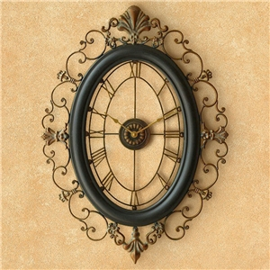 Hollow Elliptical Wall Clock Creative Non Ticking Wall Clock