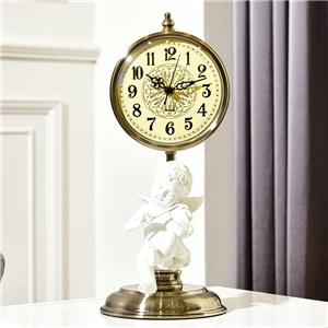 Creative Angel Tabletop Clock European Non Ticking Table Clock