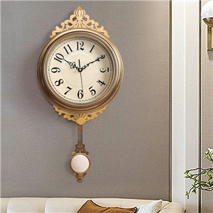 Vintage Wall Clock Luxurious Non Ticking Wall Clock with Pendulum A/B Option