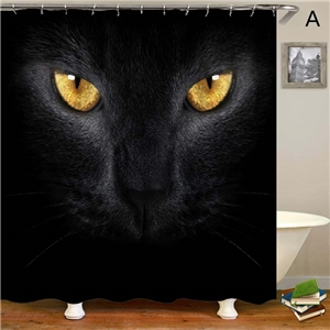 Animal Printing Shower Curtain Simple Cute Personalized 3D Printing Shower Curtain Waterproof Mouldproof Bathroom Decorative Fabric