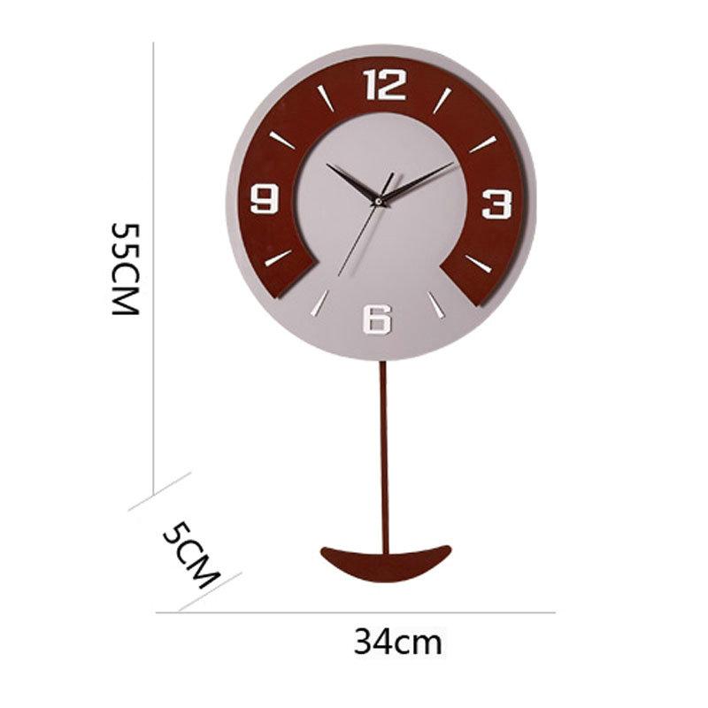 Modern Round Wall Clock Non Ticking Acrylic Wall Clock