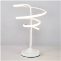 Contemporary Simple LED Table Lamp Aluminum + Iron Fixture Acrylic Shade LED Table Lamp Circumvolution Shape Desk Light