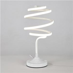 Contemporary Simple LED Table Lamp Aluminum + Iron Fixture Acrylic Shade LED Table Lamp Whirlpool Shape Desk Light