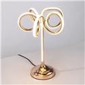 Contemporary Simple LED Table Lamp Aluminum + Iron Fixture Acrylic Shade LED Table Lamp Flower Shape Desk Light