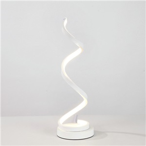 Contemporary Simple LED Table Lamp Aluminum + Iron Fixture Acrylic Shade LED Table Lamp Helix Shape Desk Light