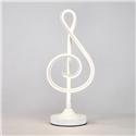 Contemporary Simple LED Table Lamp Aluminum + Iron Fixture Acrylic Shade LED Table Lamp Musical Note Shape Desk Light