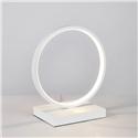 Contemporary Simple LED Table Lamp Aluminum + Iron Fixture Acrylic Shade LED Table Lamp Ring Shape Desk Light