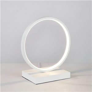 Contemporary Simple LED Table Lamp Aluminum + Iron Fixture Acrylic Shade LED Table Lamp Ring Shape Desk Light