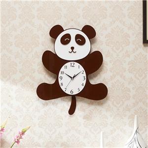 Cute Panda Wall Clock Modern Acrylic Mute Clock