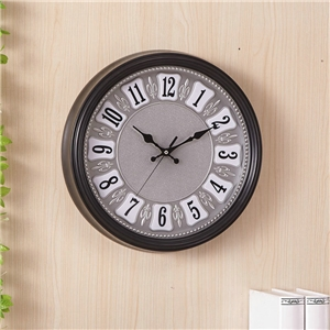 Retro Round Wall Clock Plastic Non Ticking Wall Clock A/B Options