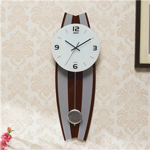 Unique Acrylic Wall Clock Stripes Background Mute Wall Clock with Pendulum A/B Options