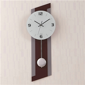 Contemporary Acrylic Wall Clock Simple Pendulum Non Ticking Wall Clock