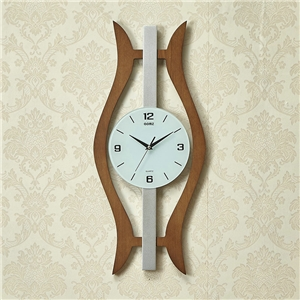 Modern Wooden Wall Clock Unique Hollow Background Mute Wall Clock A/B Options