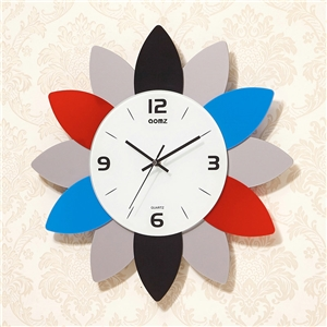 Flower Shape Wall Clock Modern Acrylic Mute Wall Clock A/B Options
