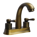 Antique Brass 4 Inch Centerset Bathroom Faucet Utility Sink Mixer Tap 4 Inch with 2 Handles