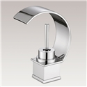 Curved Waterfall Sink Faucet Deck Mounted Hot and Cold Water Sink Tap