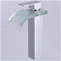Square Glass Waterfall Basin Mixer Tap(tall)