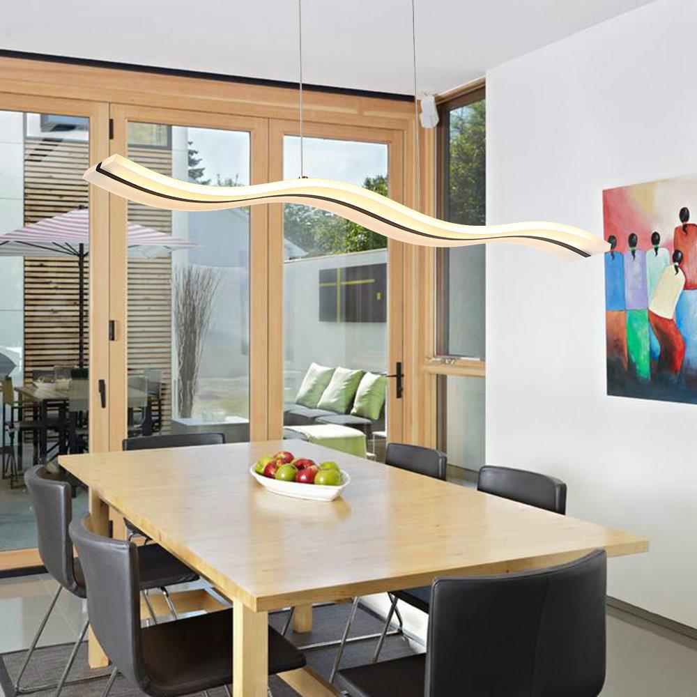 Wave Led Light Modern Contemporary Led Living Room Bedroom Dining