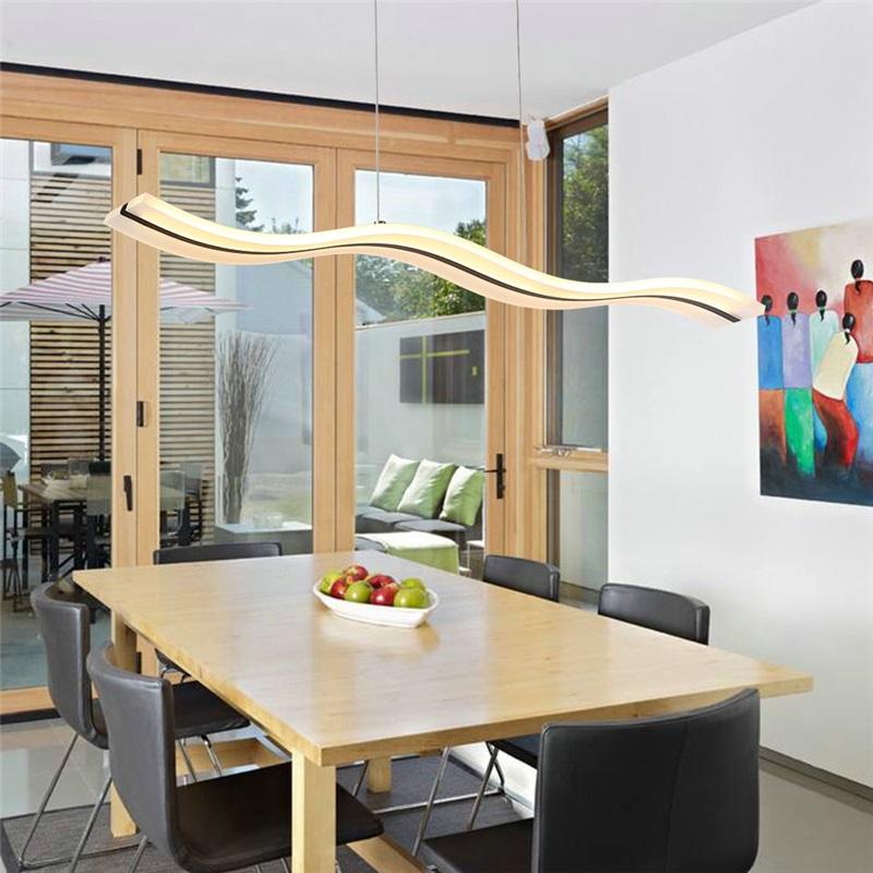 Wave Led Light Modern Contemporary Living Room Bedroom Dining Lighting Ideas Study Office Kids