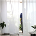 Solid White Sheer Curtain Modern Simple Sheer Curtain Living Room Bedroom Study Fabric