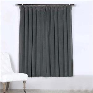 Grey Blackout Curtain Minimalist Velvet Curtain Bedroom Living Room Study Fabric