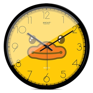 Yellow Duck Wall Clock Designer Mute Wall Clock 12inch