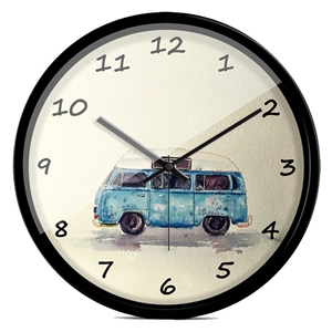 Bus Pattern Wall Clock Modern Round Shape Wall Clcok 12/14inch