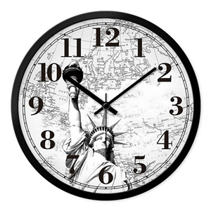 Vintage Style  Wall Clock Famous Buildings Famous Scenic Spot Mute Wall Clock 12inch