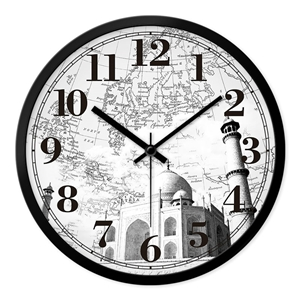 Famous Bulidings Wall Clock Vintage Designer Mute Wall Clock 12inch