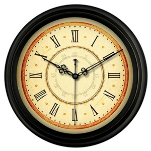 Vintage Round Wall Clock Designer Mute Wall Clock Arabic Numerals/Roman Numerals/Bulding 14inch