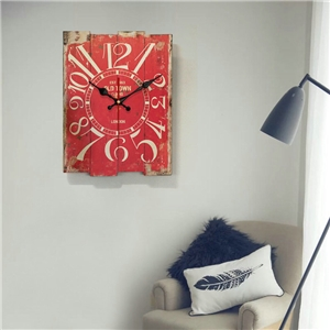 Special Rectangle Wall Clock Wooden Medley Board Mute Wall Clock