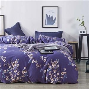 Ornamental Plants Bedding Set Skin-friendly Soft Bedclothes Environmental Protected Pure Cotton 4pcs Duvet Cover Set
