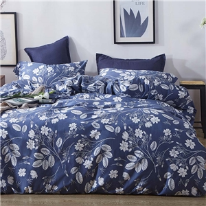 Flower Branches Bedding Set Skin-friendly Soft Bedclothes Environmental Protected Pure Cotton 4pcs Duvet Cover Set