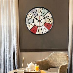 Divisional/Circled Numerals Wall Clock European Rural Wooden Mute Wall Clock 12inch