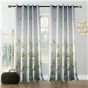 Green Bamboo Curtain Modern Printing Semi Blackout Curtain Living Room Bedroom Kid's Room Fabric